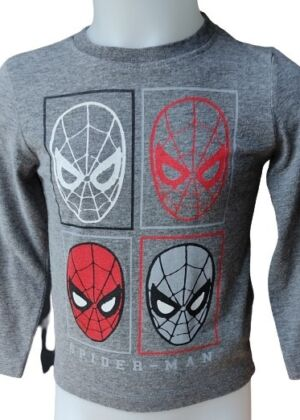 T-shirt gris manches longues Spiderman