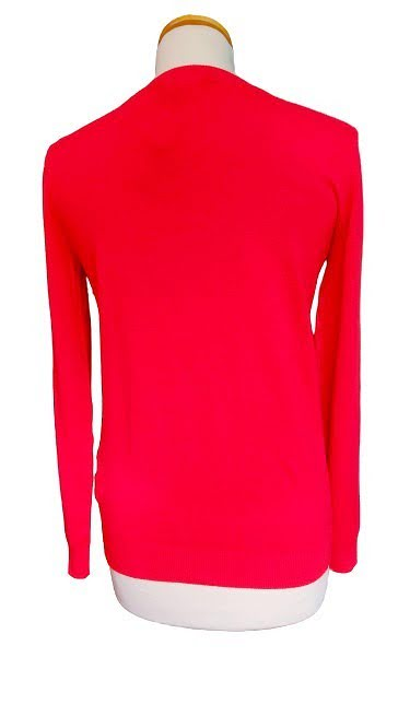 Pull fin rouge vif