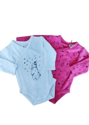 Lot de 2 bodys motif lapins