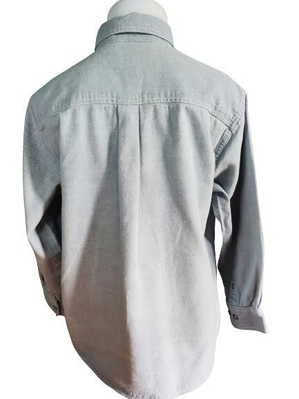 Chemise chambray à fines rayures