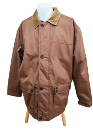 Manteau parka marron