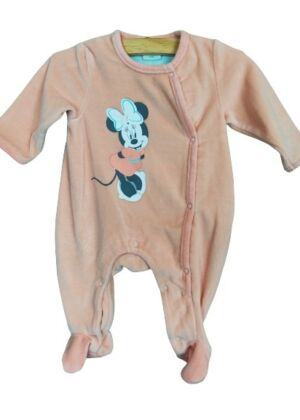 Pyjama en velours rose Minnie Disney