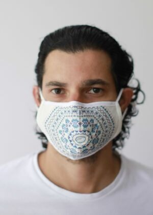 Masque anti-pollution lavable Adulte motif Aztec